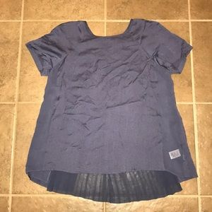 Rebecca Taylor Silk Blouse with Accordion Pleating